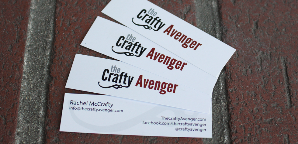 Crafty Avenger business cards